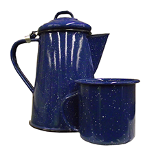 Coffee Pots and Mugs for Camping Available at The Great Outdoors in Newport, Morrisville and Enosburg Falls, VT.
