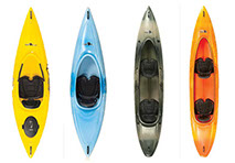 Kayaks Built by the Old Town Canoe Co. Available at The Great Outdoors in Newport, Morrisville and Enosburg Falls, VT.