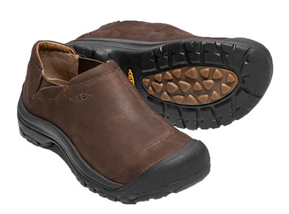 The classic leather casual shoe from Keen is available at all our locations.