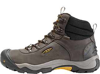 Quality hiking boot built with no scuff undersole that leaves no trace.