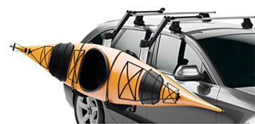 Thule Kayak Transport Equipment Available at The Great Outdoors in Newport, Morrisville and Enosburg Falls, VT.