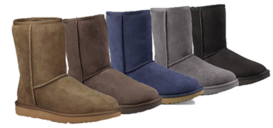 The short winter suede boot from Uggs is available in several colors at all our locations.